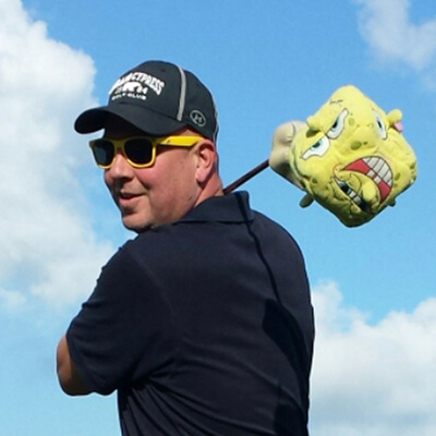 PASSIE4GOLF - ME AND MY HEADCOVER - SPONGE BOB